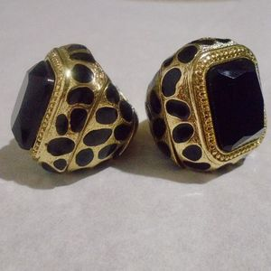 Jewelry - LEOPARD Print Stretch Gold Statement Ring 2 FOR 1